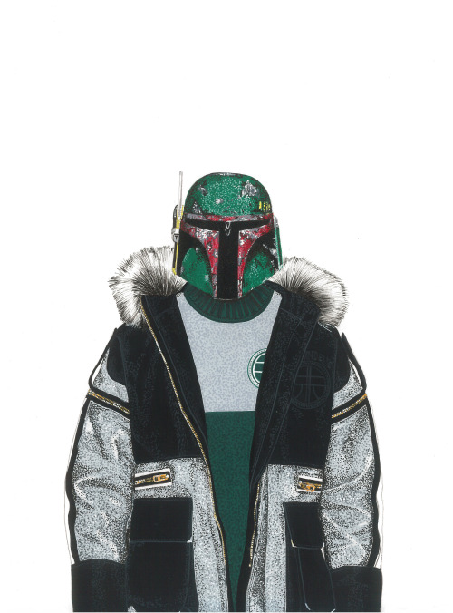 Boba Fett wearing Astrid Andersen Fall 2015 Collection.