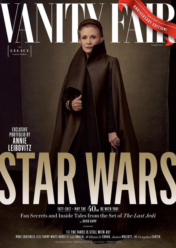 Forty years after her first appearance in the Star Wars saga, Carrie Fisher stands tall as freedom f