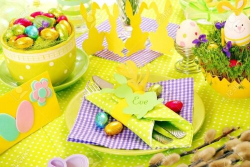 Оформление праздничного пасхального стола