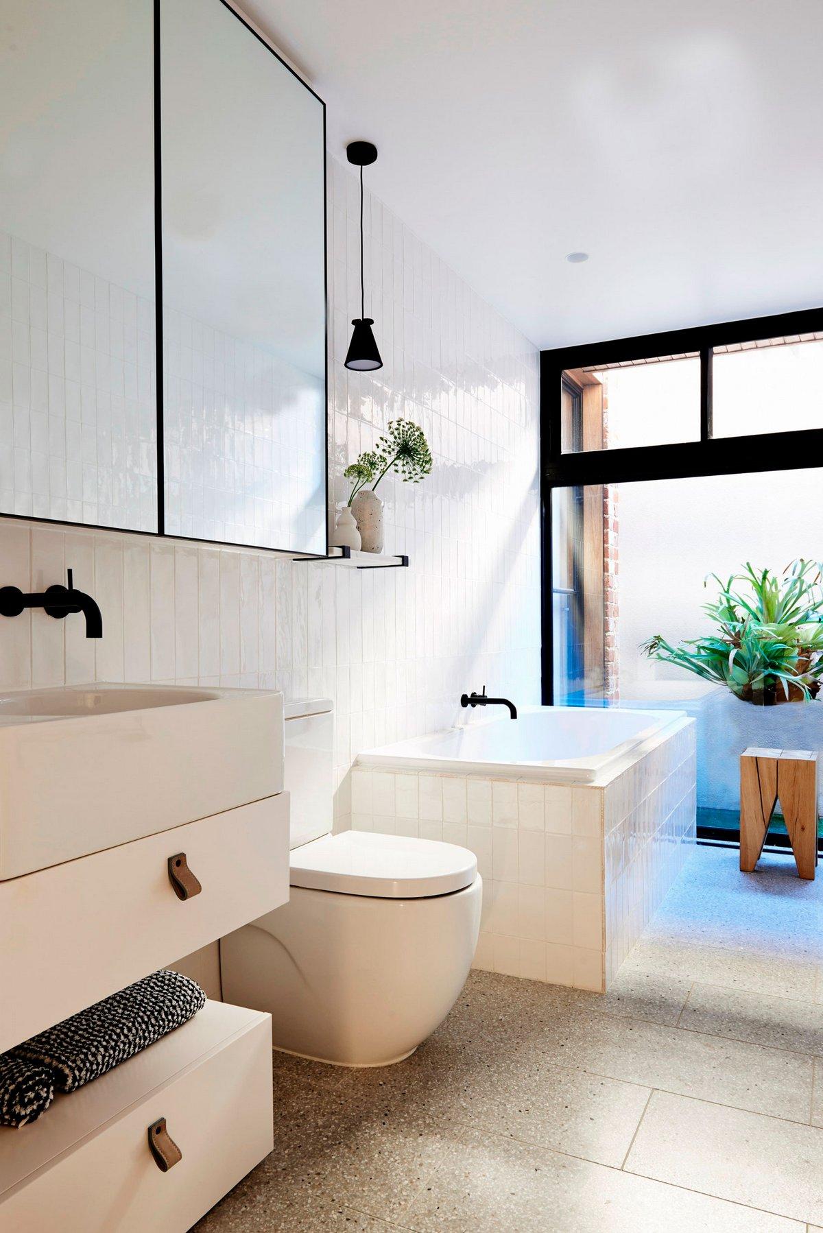 оформление ванной комнаты частного дома