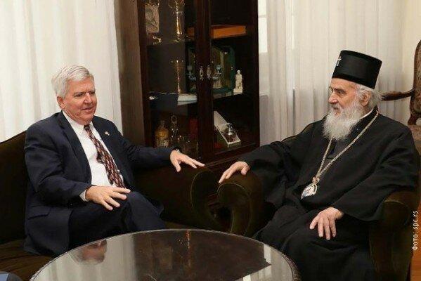 Сербия, США, патриарх Ириней