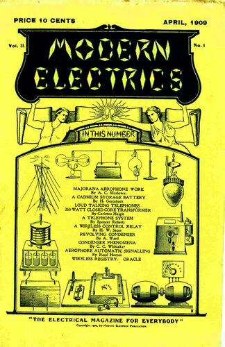 Modern Electrics: April 1909 - - Book Cover