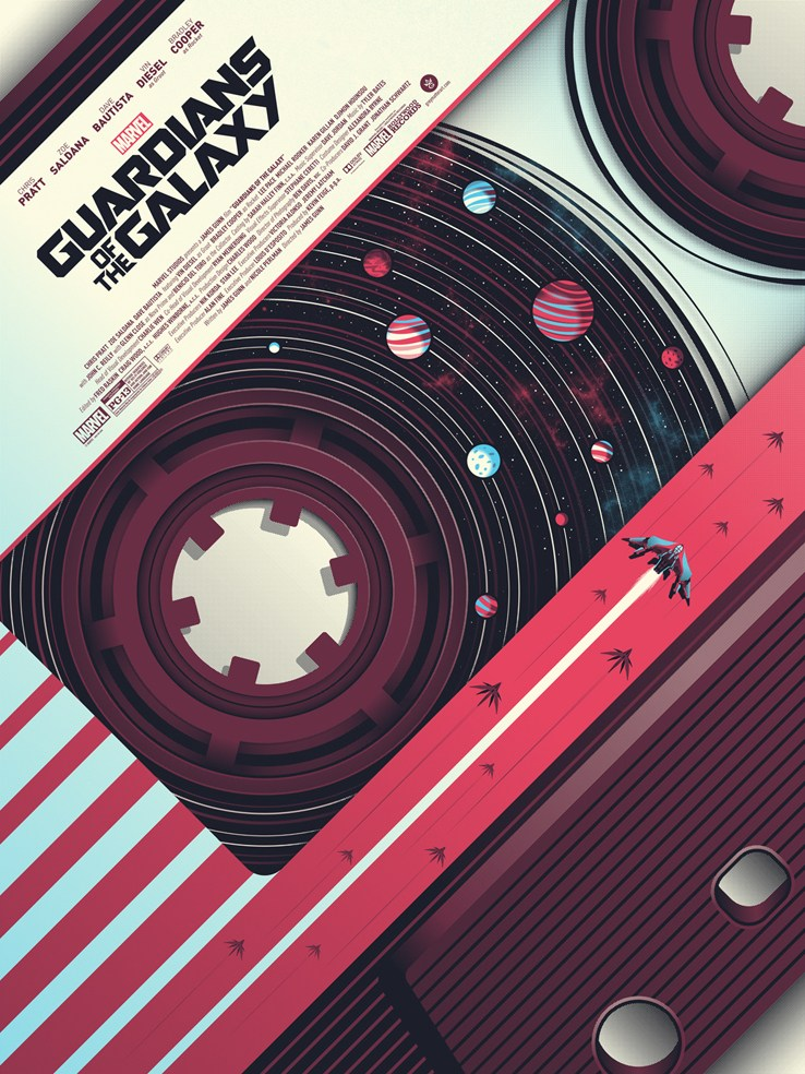 Guardians of the Galaxy Print by Guillaume Morellec for the Bottleneck Gallery !
