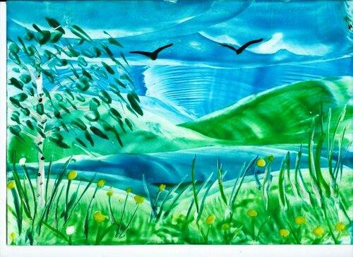 Весенний ветерок - Палаткин Александр, 8 лет, Тема -- Рисунок, г. Сургут.jpg