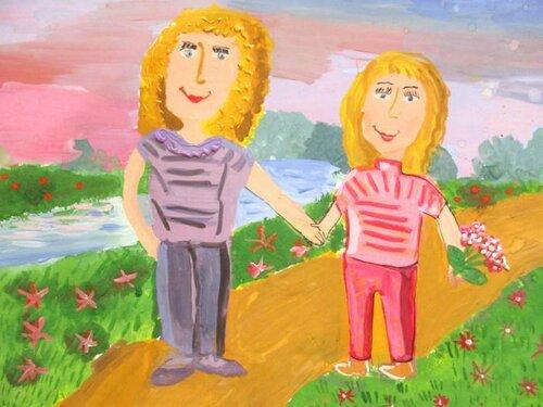 Весенняя прогулка - Коновалова Анастасия Алексеевна, 10 лет, Тема -- Рисунок, г. Волгодонск.jpg