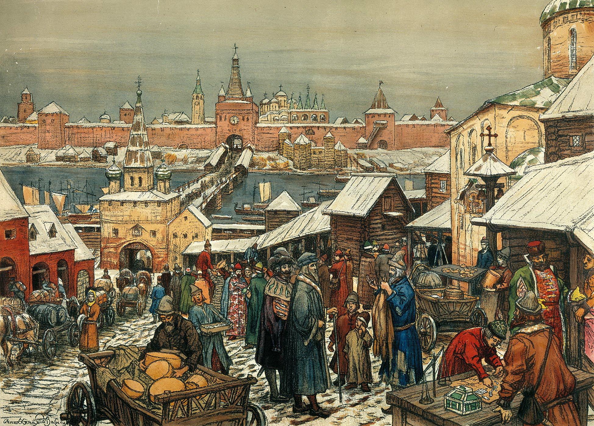 Pictorial_art_Apollinary Новгородский торг