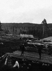 Челябинск. Подготовительные работы для строительства моста через реку Миасс. 1923