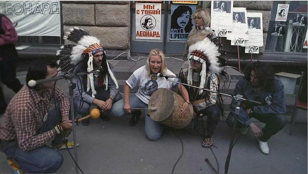 1988. Митинг в защиту Леонарда Пелтиера