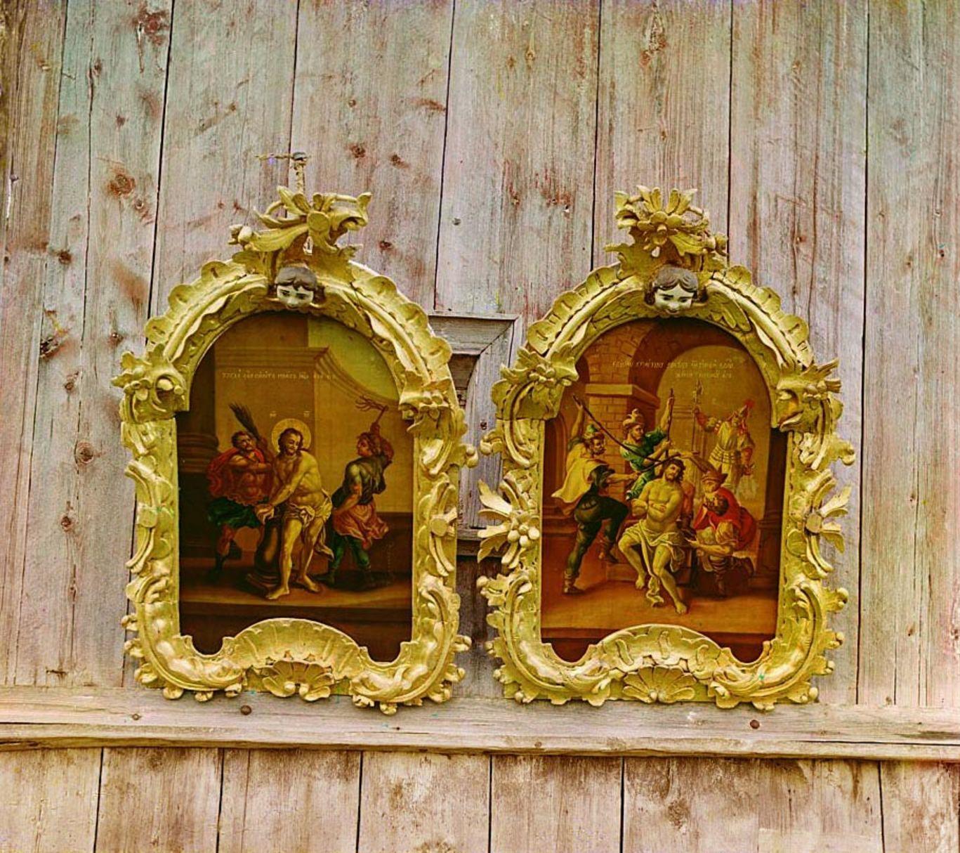 Белозерск. Две иконы в церкви Ильи Пророка