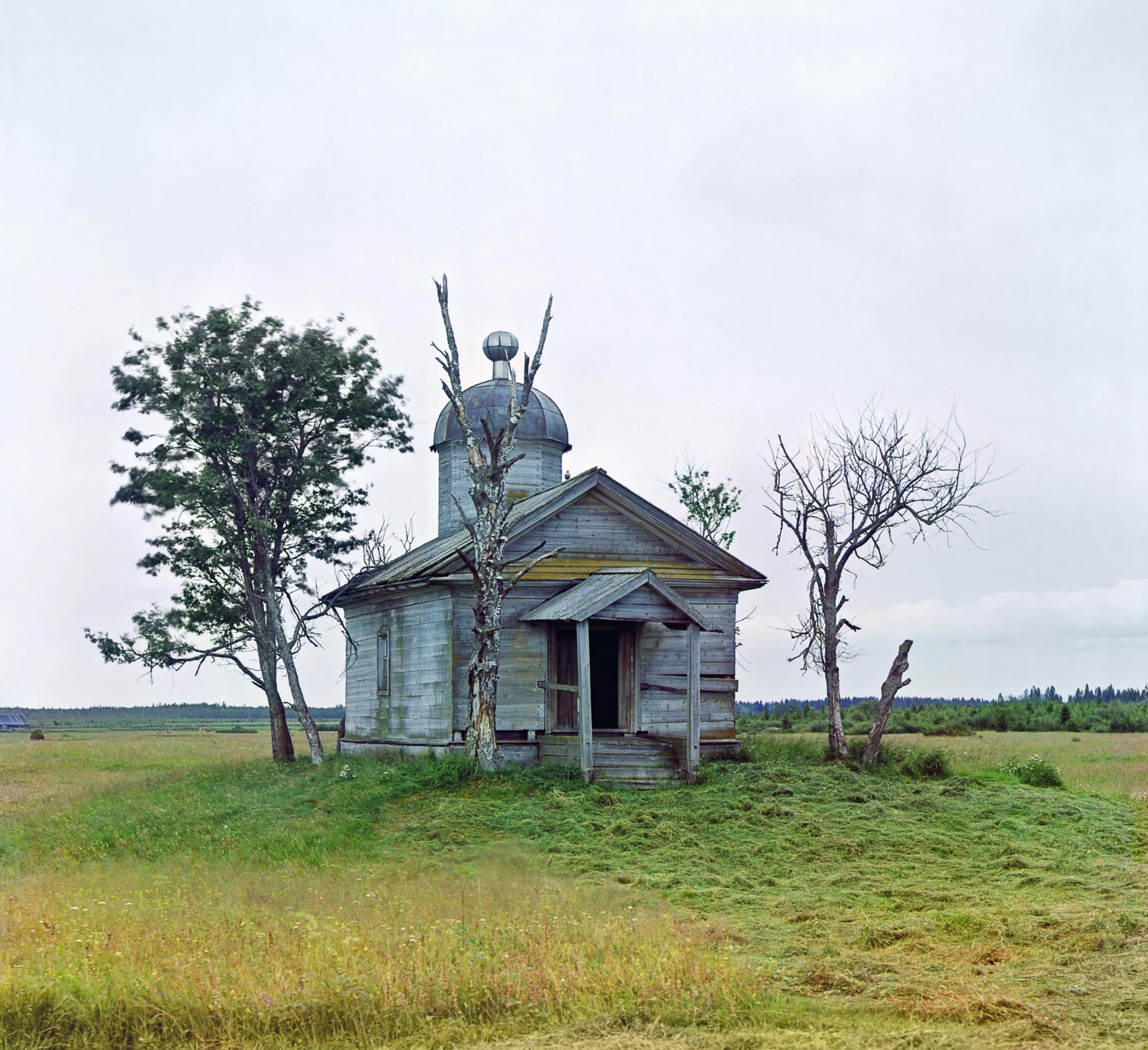 Посад Крохино. Часовня на месте, где был в древние времена основан г. Белозерск.