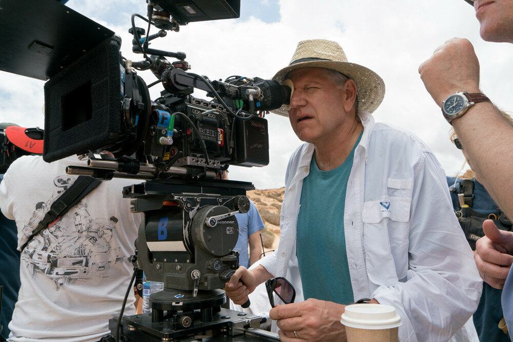 Director Robert Zemeckis on the set of Allied from Paramount Pictures.