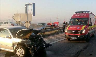 Авария на румынской автостраде, где столкнулось сразу 17 авто