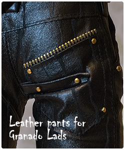 BJD leather pants