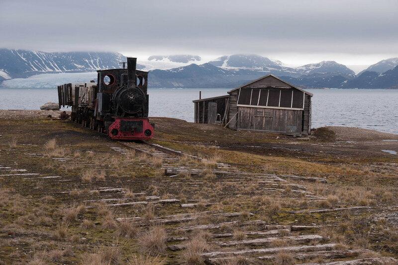 Шпицберген. Паровоз, который когда-то служил для транспортировки угля Christoph.jpg