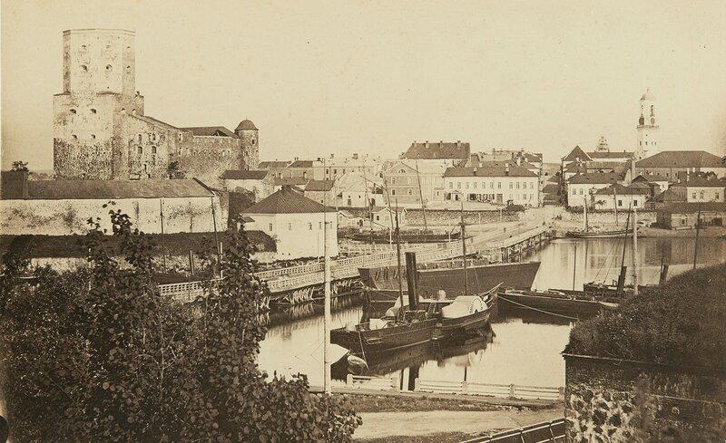 1860-80 Выборгский замок и город.jpg