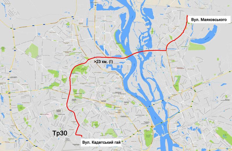 Подовжений тролейбусний маршрут №30