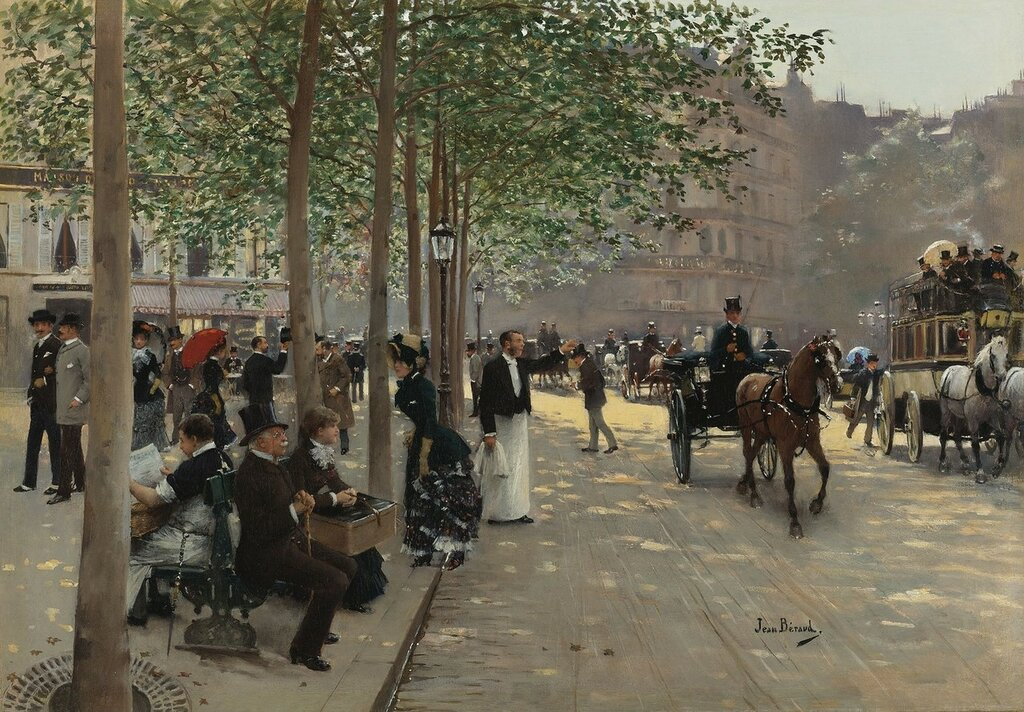 Парижский бульвар (39.7 х 56.5 см) (Частное собрание).jpg