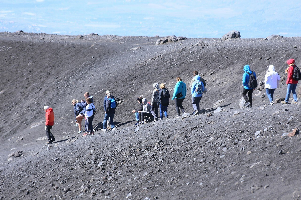 Etna. Tower of the Philosophers (Torre-del-Filosofo), southern craters