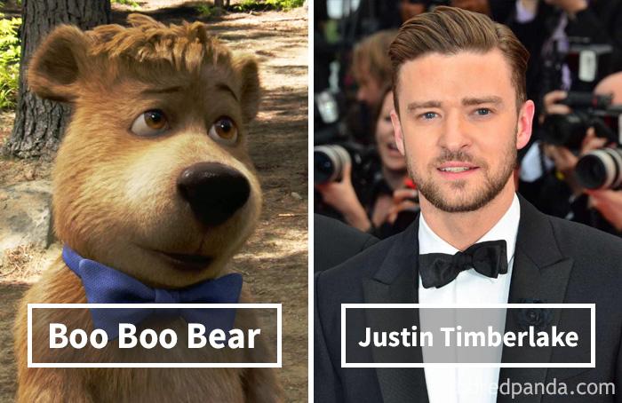 Бу-бу («Медведь Йоги») — Джастин Тимберлейк.