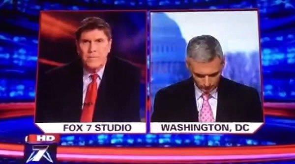 6. Репортер Fox News Даг Лузадер уснул прямо во время прямого репортажа из столицы США, посвященного