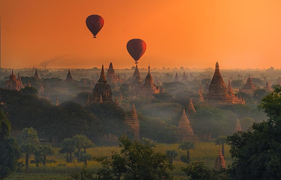 1. В округе Мандалай находится древний город Паган, с 9-го по 13-й век бывший столицей Паганского ца