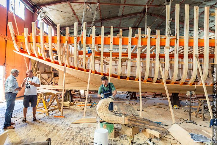 Как строят деревянные корабли (35 фото)