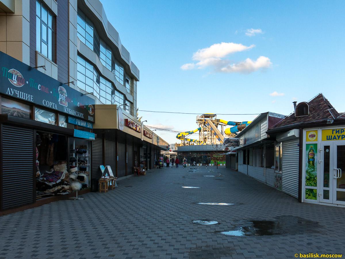 Анапа. Набережная вдоль пляжа. Октябрь 2016