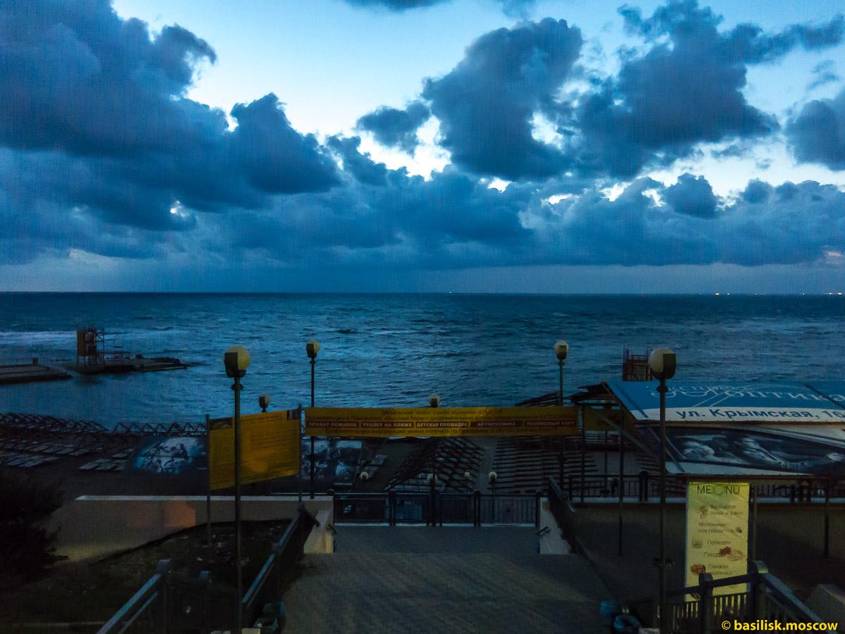 Анапа. Набережная над высоким берегом. Октябрь 2016
