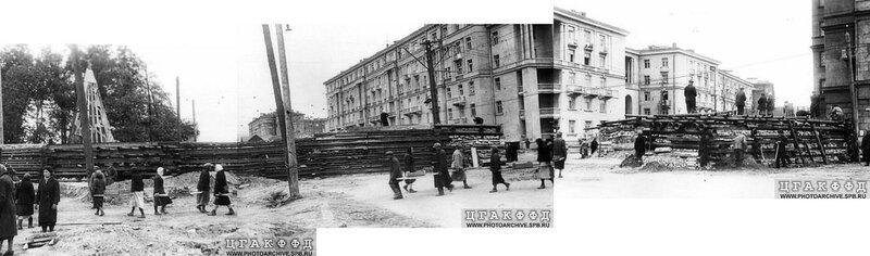 Строительство баррикады в Автово
