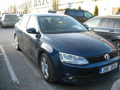Blue Volkswagen Jetta
