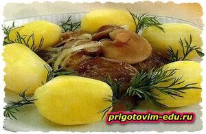 Маслята, жаренные с картофелем