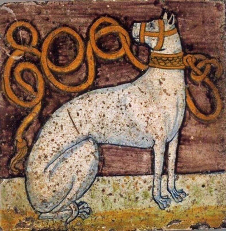 z1 Vers 1495. Carreau du palais d'Isabelle d'Este à Mantoue. Voir aussi.jpg