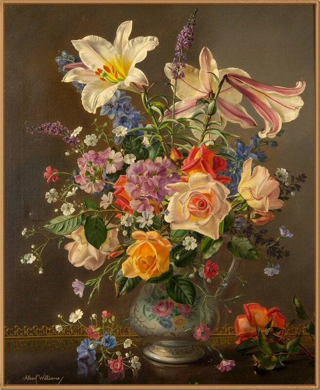 8 Натюрморт с цветами в кувшине (A still life of flowers in a jug)_61.5 x 51_х.,м._Частное собрание.jpg