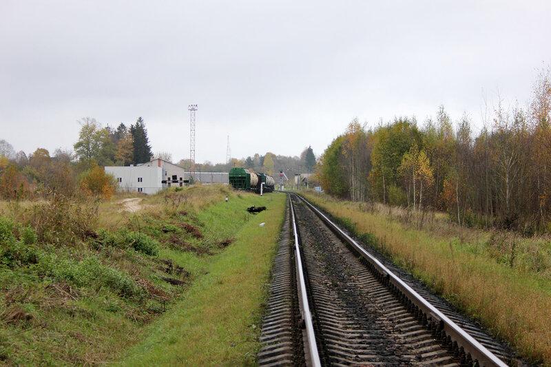 619-й километр Рижского направления, перегон Гарнея - Себеж, входной светофор Ч станции Себеж