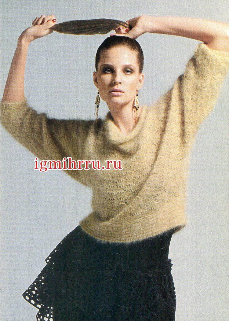 Вязание из мохера спицами для женщин оригинальные модели сабрина 84