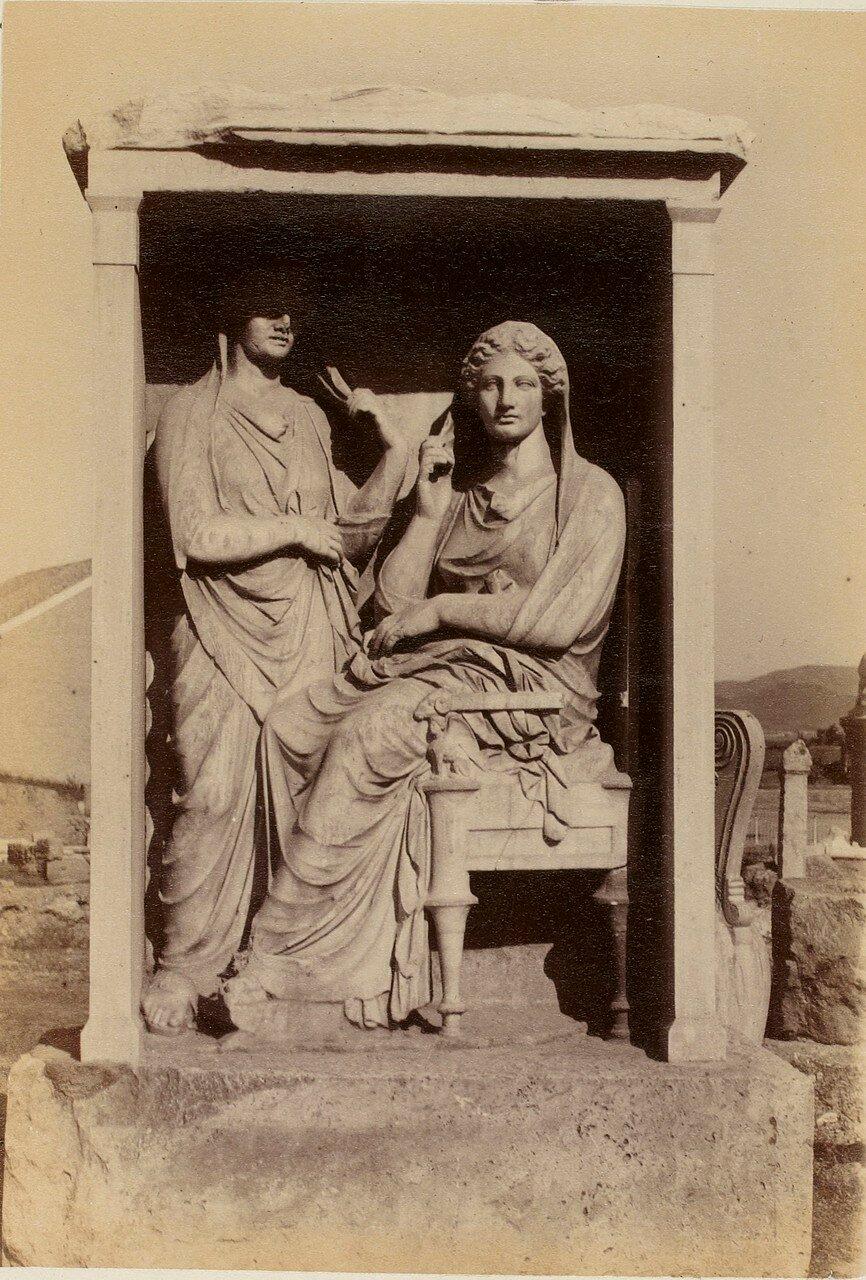 64. Афины. Кладбище Керамик. Стела Деметрия и Памфиль