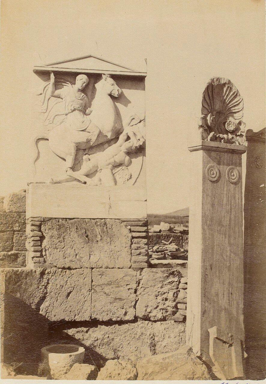 65. Афины. Кладбище Керамик. Стела Дексилиоса, умершего во время Коринфской войны.