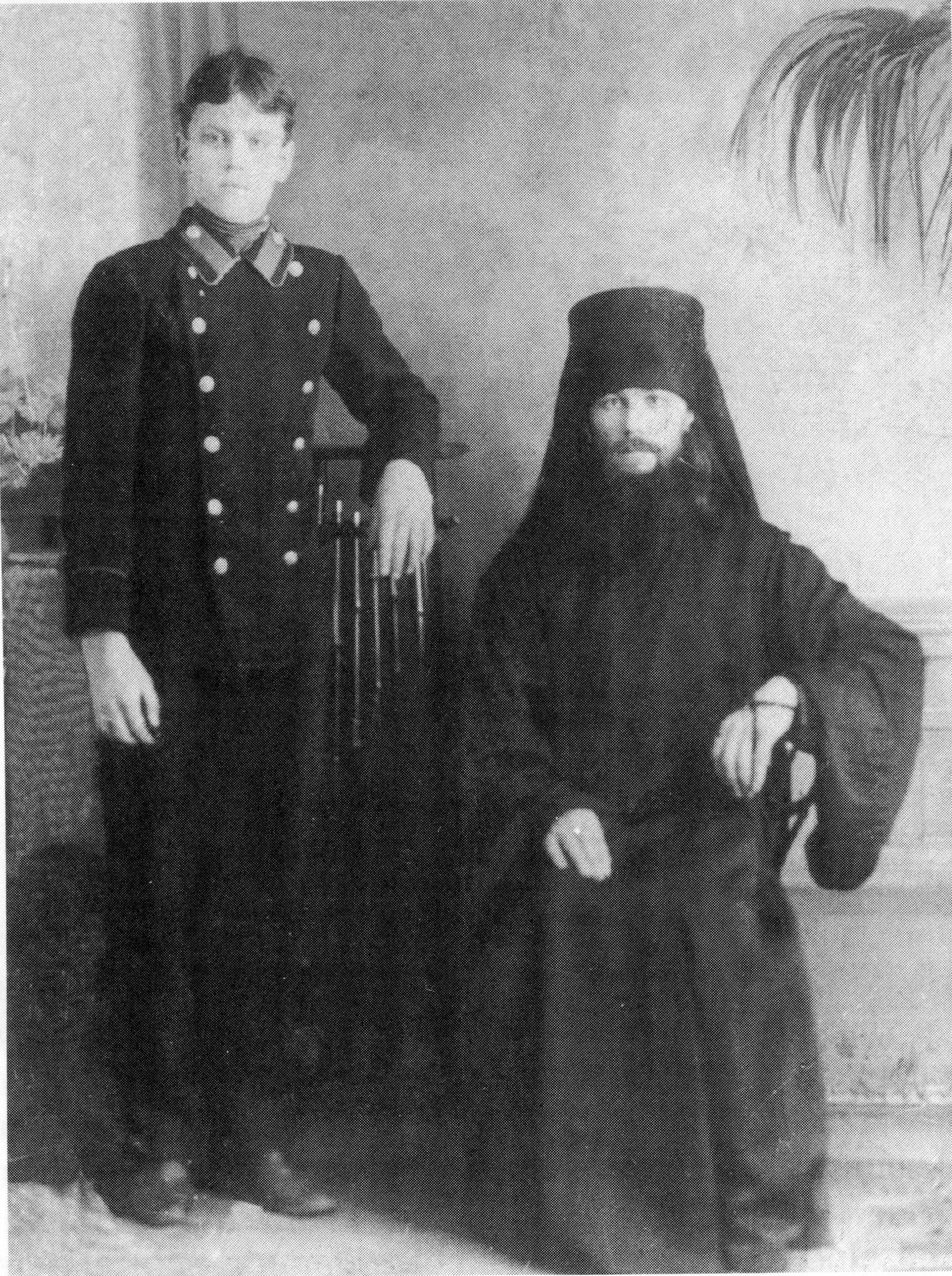 Монах Иверского монастыря отец Никита со своим братом