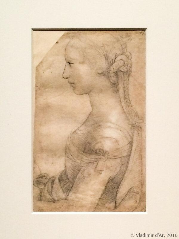 Рафаэль Санти. Погрудное изображение молодой женщины в профиль.
