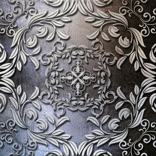 floral metal plate background