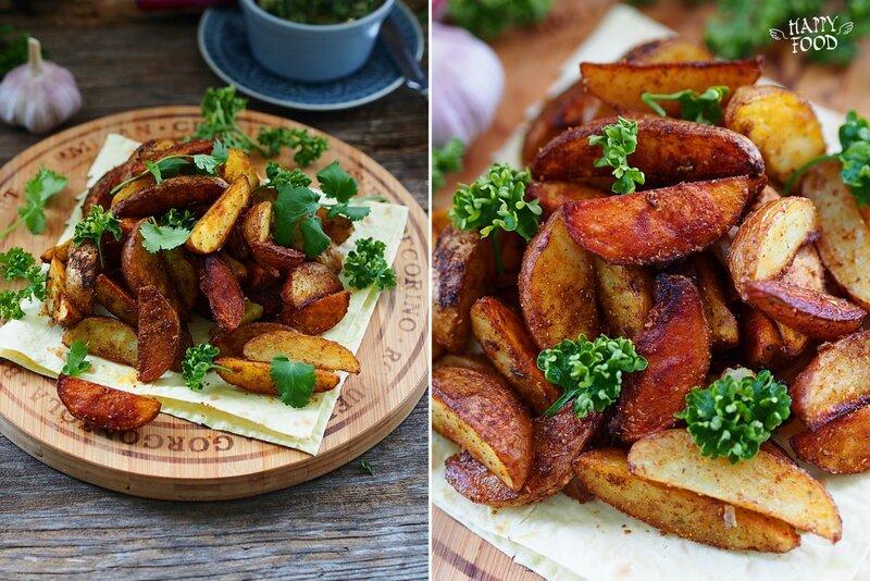 Запеченный картофель с паприкой и карри