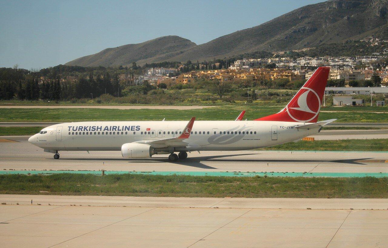 Аэропорт Малага-Коста-дель-Соль. Boeing 737-9F2/ER Turkish Airlines TC-JYM  'Inceburun'