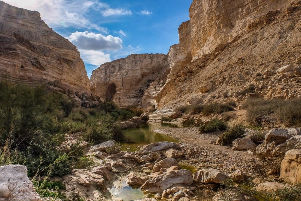 © father-ingwar  Пустынный национальный парк Эйн-Авдат вИзраиле охраняет красивые территории