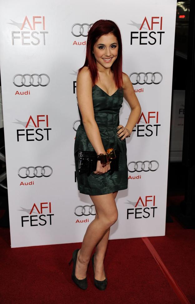 Актриса и певица Ариана Гранде в 2009 году на показе мультфильма «Бесподобный мистер Фокс».