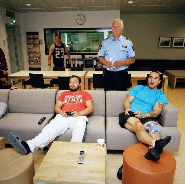 Свежие фото тюрьмы в Норвегии