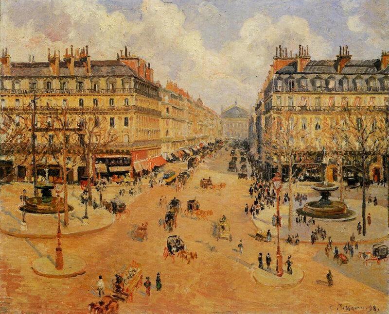 Pissarro_Camille_Avenue_de_l_Opera_Morning_sunshine_1898