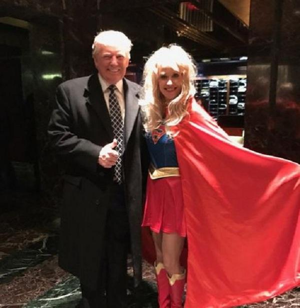 Дональд Трамп посетил костюмированную вечеринку вобразе самого себя