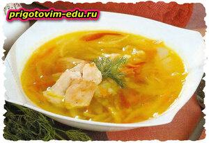 Овощной суп с курицей в СВЧ печи