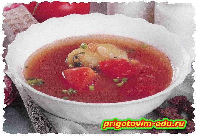 Суп фасолевый с томатами на пару