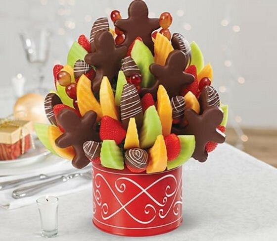 Идеи съедобного декора для новогоднего стола